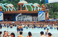 Custom Outdoor Water Park Wave Pool Wave Machine For Family Summer Entertainment