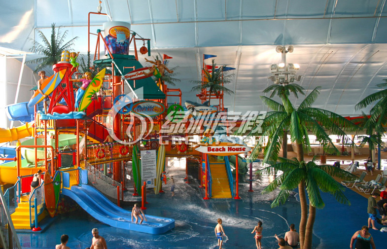 Indoor Kid's Water Playground Fiberglass Spiral Water Slide for Holiday Resort